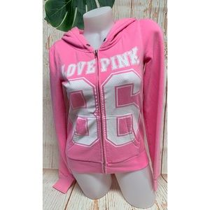 Victoria's Secret Pink Love Pink 86 Hoodie Top